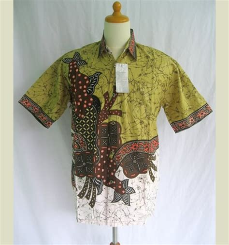Kemeja Pria Kemeja Batik kemeja batik modern pria hijau modern batik sekar