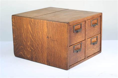 Index Card File Cabinet 1930s Four Drawer Library Index Card Cabinet At 1stdibs