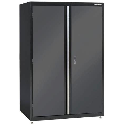 metal storage cabinets home depot husky 72 in h x 46 in w x 24 in d welded steel floor