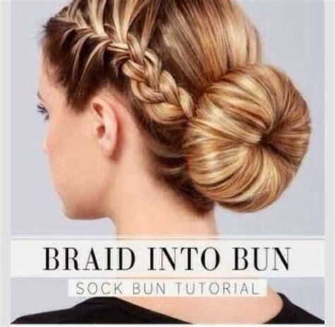 braided hairstyles into a bun easy braided bun hairstyle trusper