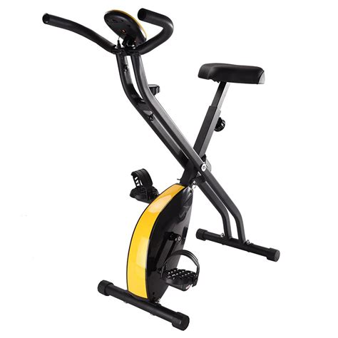folding upright bike stationary magnetic fitness home