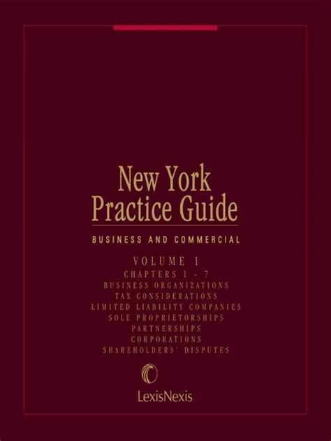libro new york a guide new york practice guide business and commercial lexisnexis store
