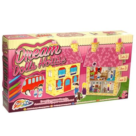 make your own dolls house kit make your own dream dolls house girls craft kit set great gift ebay