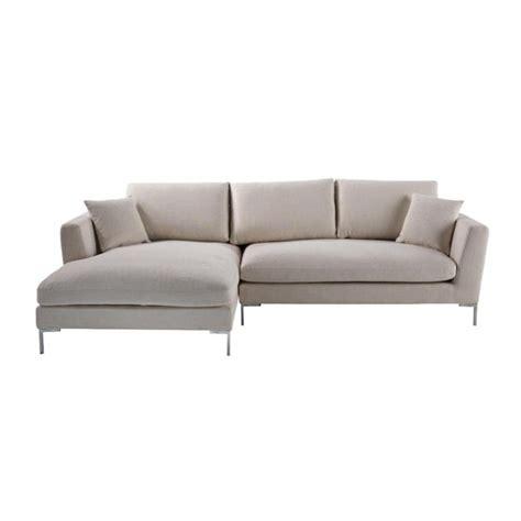 5 seat sectional sofa 5 seat corner sofa in ecru dublin dublin maisons du monde