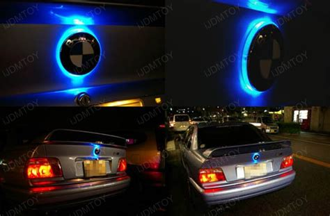 light blue bmw x5 1 82mm ultra blue emblem led background light for bmw 1