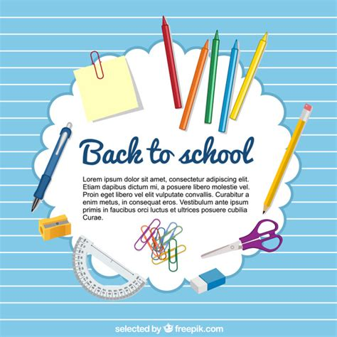 back to school template vector free download