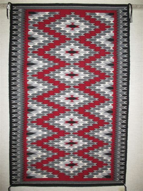 ganado rug by grace begay large size two grey