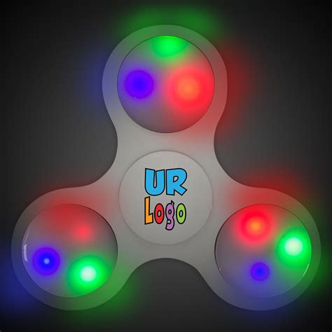 lit up light up white fidget spinner