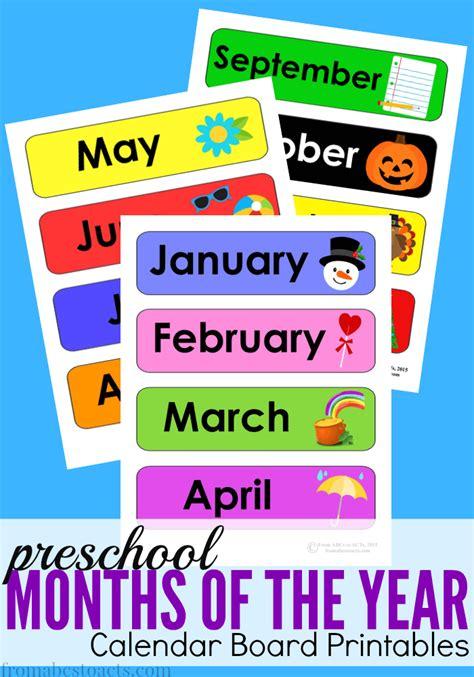 Free Preschool Calendar Printables