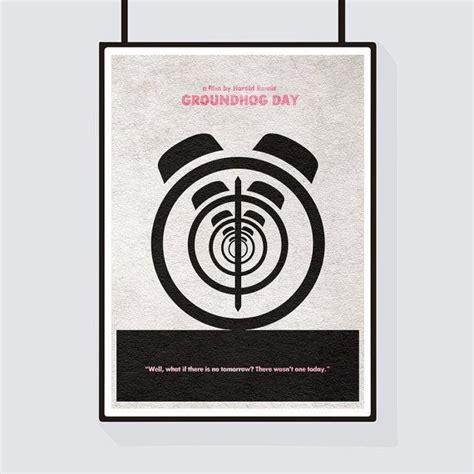 groundhog day poster groundhog day minimalist alternative print poster