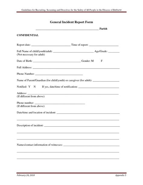 report form template general incident report form designed by vdq65279 helloalive