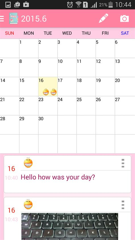 Diary App Personal Diary App For Android Smartphone
