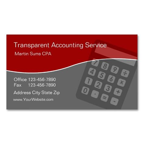 accounting business card templates 1996 best accountant business cards images on