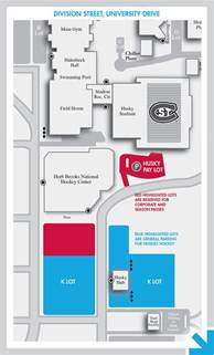 St Cloud State Campus Map by Campus Map Parking Huskies Hockey St Cloud State