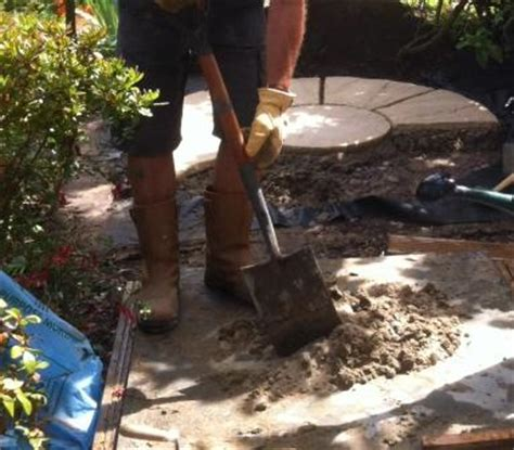 Mortar Mix For Patio by A Patio Circle For A Pergola