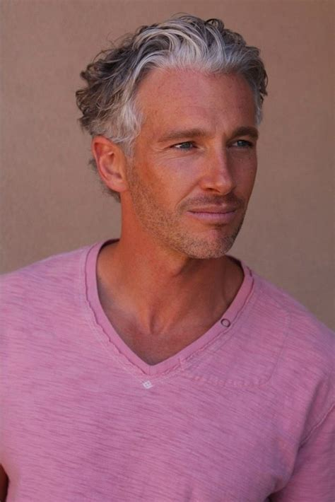 young people with grey hair hairstyle handsome young gray haired man rich haircut sept 2014