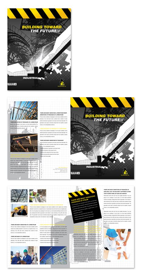 construction brochure template industrial commercial construction brochure template