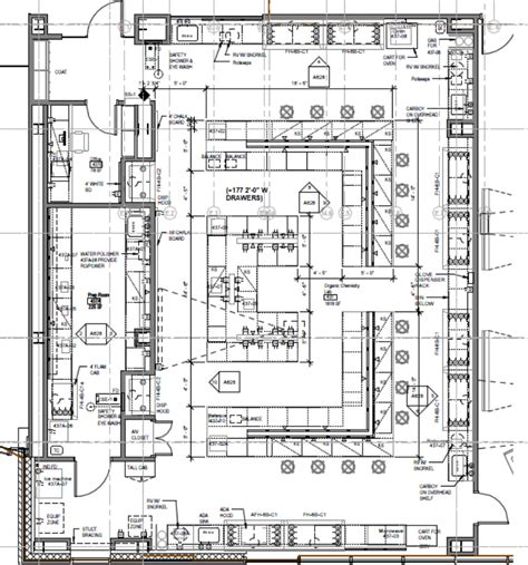 layout plan of laboratory organic teaching lab