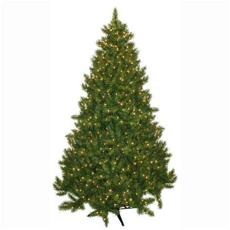 what artificial pre lit chridtmas are at home depot general foam 7 5 ft pre lit carolina fir artificial tree with clear lights hd 21675c7
