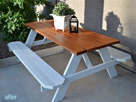 white picnic bench chic white picnic table with benches 25 best ideas about picnic tables on pinterest