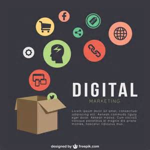free digital templates digital marketing template with icons vector free
