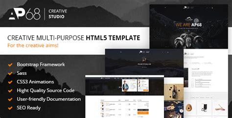 Themeforest Ap68 Download Creative Multi Purpose Html5 Template Themeforest Html5 Templates