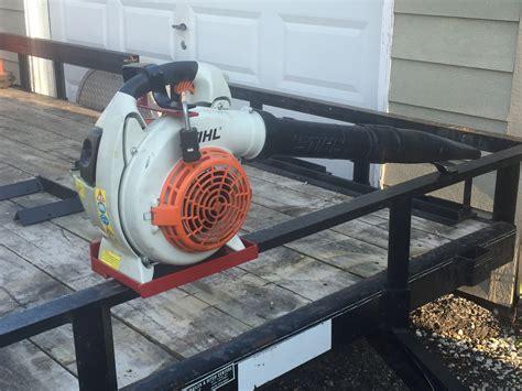 lockable handheld blower rack lawnsite