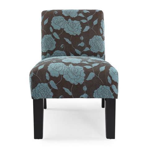 blue accent chair shop dhi deco modern blue accent chair at lowes