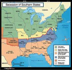 southern map secession of southern states map 1861 by maps from
