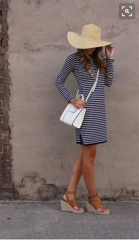 Striped Army Look Dress 25 best ideas about navy striped dresses on