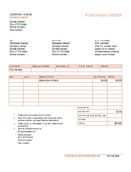 purchase order template fill online printable fillable blank