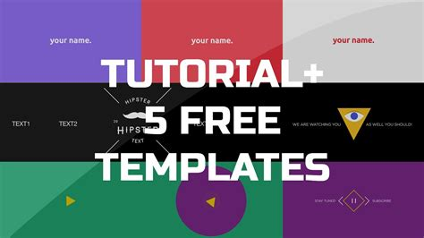 After Effects Tutorial Gif Animated Banner 5 Free Templates Youtube After Effects Photo Animation Templates