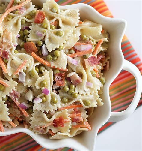 vegetables types of salaad pea pasta salad