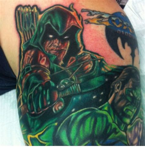 green arrow tattoo green arrow supper by kirt silver tattoos