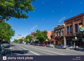 main street in downtown bozeman montana usa stock photo