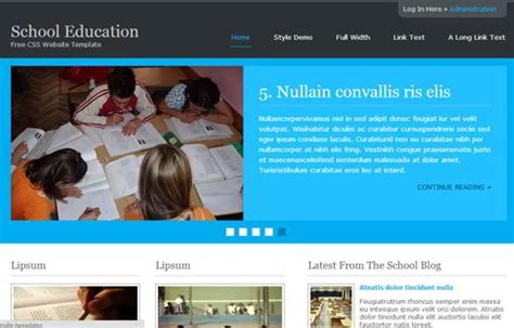 25 Free Responsive Html5 Css3 Web Templates School Website Templates Free Html5