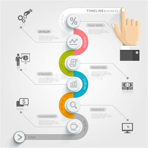 infographic templates for business vector illustration business timeline infographic template stock vector