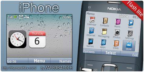 iphone themes nokia iphone theme for nokia c3 themereflex