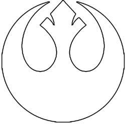 Wars Rebel Symbol Outline by Wars Boards How To Diy Crafted Workshop