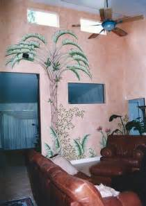 hand painted wall murals tropical home hand painted wall murals