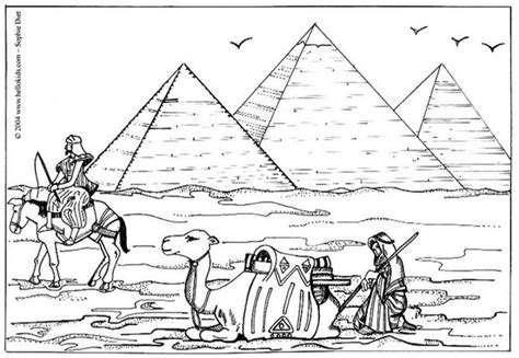 Pyramid Coloring Pages pyramids coloring pages hellokids