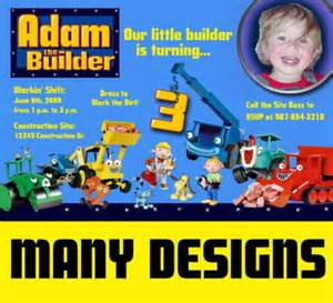 personalized bob the builder photo birthday invitation u print birthday for grayson 2