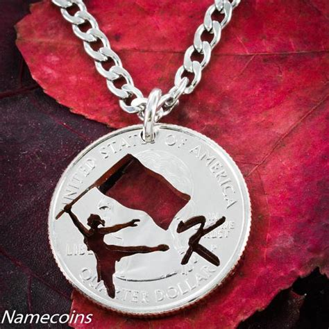color guard jewelry color guard jewelry with your custom initial cut quarter