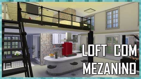 The Sims 4: LOFT COM MEZANINO   House Building   YouTube