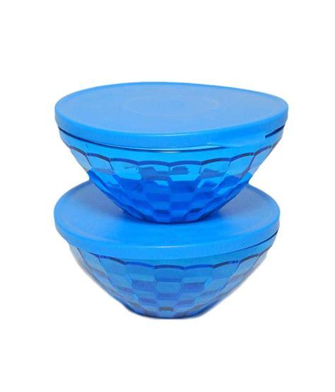 cupid set blue tupperware tupperware blue 500 ml plastic bowl set of 2 buy