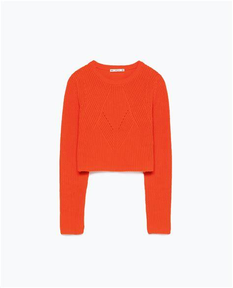 Sweater Crop United Ta5641 cropped sweater knitwear sale zara united states