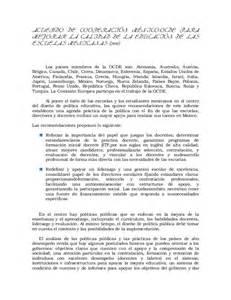 resumen acuerdo de cooperaci 243 n m 233 xico ocde para