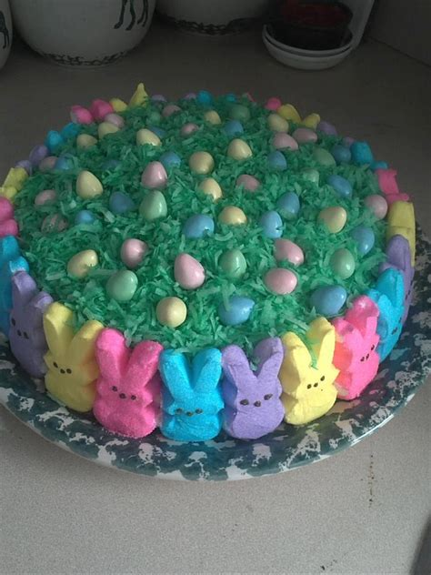 bunny peeps cake easter pinterest posts butter  peeps