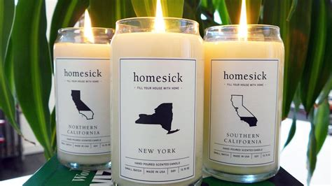 candles that smell like your state homesick candles