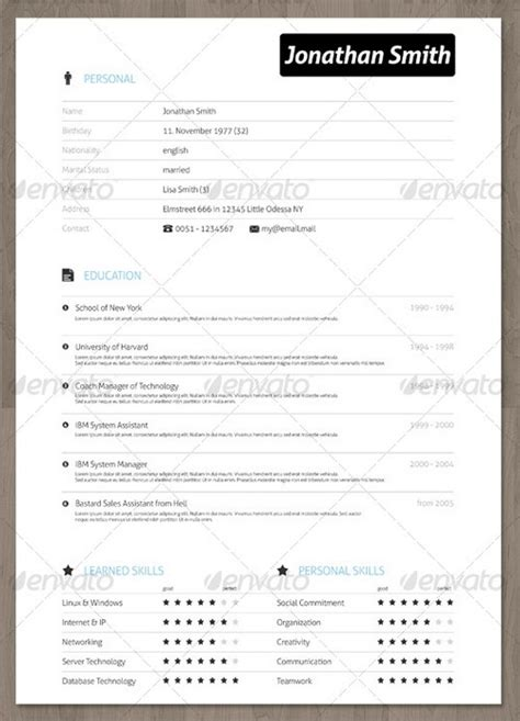 modern professional resume templates 30 modern and professional resume templates